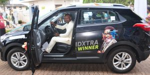 South East 6: Ugwuozor Tochukwu Emmanuel in his Grand prize SUV Car won at the DiamondXtra South East Regional draw held recently.