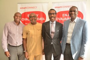 Group Chief Human Resources Officer, Airtel Africa, Roy Masamba; Director, Corporate Communication and CSR, Airtel Nigeria, Emeka Oparah; MD/CEO, Financial Derivatives Company Limited, Bismarck Rewane and Managing Director and Chief Executive Officer, Airtel Nigeria, Segun Ogunsanya, at the 5th Employee Knowledge Series at Airtel Headquarters, Banana Island today (October 13, 2016) in Lagos.