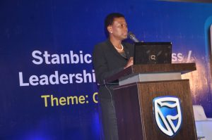 Chief Executive, Stanbic IBTC Holdings PLC, Sola David-Borha giving the welcome address