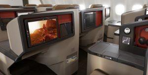 SAA A330-300 Business Class inflight entertainment