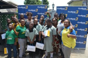 FirstBank staff with children from the Down Syndrome Foundation Nigeria commemorating World Down Syndrome Day.