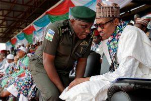 President Buhari and IG of Police, Mr. Idris