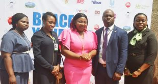 L-R: Executive Director, Behind the Door Initiative, Mrs. Folashode Ajayi; Team Lead, Customers Insight and Business Support, Heritage Bank, Mrs. Ajiri Efeturi; Managing Director/ Visionary, Generation Next, Mrs. Olufunke Fajusigbe; Experience Centre Manager, Heritage Bank, Mr. Oluwale Osundele and Team Member, Brand Management and Sustainability, Heritage Bank, Mrs. Ozena Utulu, during a Seminar on Brace Yourself by Heritage Bank/Generation Next in Lagos…yesterday.