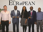 L-R: Mr. Janos Nieddu, Director, Chase Publishing, Mr. Obeahon Ohiwerei, GMD/CEO, Keystone Bank Ltd, Mrs. Omobolanle Osotule, Divisional Head, Marketing & Corporate Communications, Keystone Bank Ltd, Mr. Abubakar Sule, Deputy Managing Director, Keystone Bank Ltd, Mr. Edvaldo Naval, Global Head of Projects, Chase Publishing at the European Global Banking & Finance Awards 2018 where Keystone Bank was conferred with the 'Most Innovative Bank of the Year Africa 2018 and the GMD/CEO, with the 'Best Banking CEO 2018, in London, United Kingdom on Friday July 20, 2018.