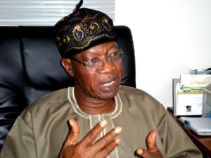 The Minister of Information and Culture, Alhaji Lai Mohammed,