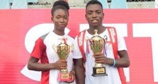 Winners of the 2nd edition of the Zenith Bank Next Gen Tennis Competition, Omolayo Bamidele and Musa Mohammed.