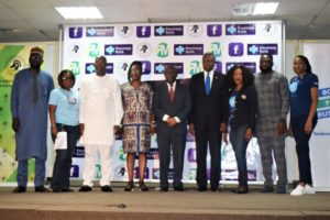L-R: Mr. Lawal Ahmed, Executive Director, North & Public Sector Directorate, Keystone Bank Limited; Mrs. Helen Nwelle, Head SME/Value Chain, Keystone Bank Limited; Adeyemi Odusanya, Executive Director - South & Corporate, Keystone Bank Limited; Mrs Tola Gbogboade, Chairperson, Professional Practice Group, Lagos Chamber of Commerce and Industry; Mr Soboma Ajumogobia,  Vice President, Lagos Chamber of Commerce and Industry; Mr Babatunde Ruwase, President, Lagos Chamber of Commerce and Industry; Mrs Omobolanle Osotule, Divisional Head, Marketing & CorporateCommunications, Keystone Bank Limited; Mr Okemini Otum, Chief Executive Officer, Rabbington Media and Mrs Yvonne Ojibah, Divisional Head, Strategy & Implementation, Keystone Bank Limited at the Lagos Chamber of Commerce and Industry (LCCI), one of the MSMEs training centres in Lagos, recently.