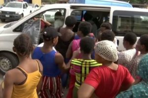 Some of the rescued victims of the Lagos baby factory