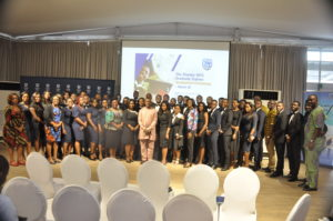 L-R – Cross-section of graduate trainees with EXCO members.