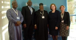 From left: MD/CEO, Jaiz Bank Hassan Usman; CEO, First Bank of Nigeria Limited, Dr. Adesola Adeduntan; Chairman, Jaiz Bank, Alhaji Umaru Mutallab; Chair of the Scottish Fiscal Commission and member of the Banking Standards Board, Dame Susan Rice; Executive Director, Bank of England, Sarah Breeden at the Ethical Finance Conference held at Royal Bank of Scotland, Edinburgh on Tuesday.