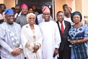 l-r: President, Lagos Chamber of Commerce and Industry, Babatunde Paul Ruwase; Minister of State for Industry, Trade and Investment, Hajia Mariam Katagum; Deputy Governor of Lagos State, Obafemi Hamzat; Chief Executive Officer, UBA Africa, Victor Osadolor andCommissioner for Commerce, Industry and Cooperatives, Lagos State, Lola Akande, during the opening ceremony of the 2019 Lagos International Trade Fair which UBA is headline partner, held at Tafawa Balewa Square (TBS) in Lagos,  yesterday.