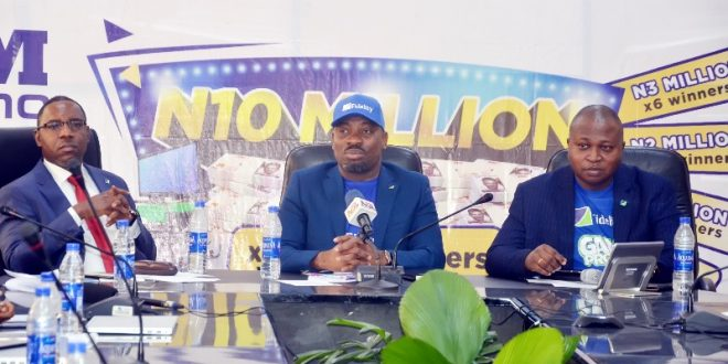 L-R: Regional Bank Head, Apapa, Jude Monye; Divisional Head, Operations, & Vice Chairman, Get Alert in Millions Season 4 (GAIM 4) Promo Committee, Martins Izuogbe; Divisional Head, Retail Banking, , Richard Madiebo all from Fidelity Bank Plc at the 2nd Bi- monthly / 4th monthly draw of Get Alert in Millions Promo Season 4 (GAIM 4) in Lagos recently.