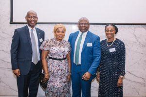 L-R: Mr. Samuel Aiyere, CEO, FBN Bank UK; Mrs Adenike Adeduntan; Dr Adesola Adeduntan, CEO, FirstBank and  Mrs Folake Ani-Mumuney, Group Head, Marketing & Corporate Communications, FirstBank.