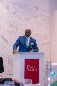 Dr Adesola Adeduntan, CEO, First Bank of Nigeria Limited delivering his appreciation remarks