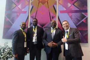 L-R: Mr. Tunde Oladele, CEO, Software Group; Mr. Olayinka Situ, Group Head, Corporate Transformation, FirstBank; Dr. Adesola Adeduntan, CEO, FirstBank and Filip Genov, Co-Founder & CEO, F27 at the Annual FinTech & InsureTech Summit held at Sofia Event Center, Bulgaria.